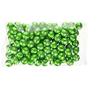chocolate factory emerald green foil wrapped milk ball 100-pieces 420 g, m9447/gr Chocolate Factory Emerald Green Foil Wrapped Milk Ball 100-Pieces 420 g, M9447/Gr 51ksKIQAuVL