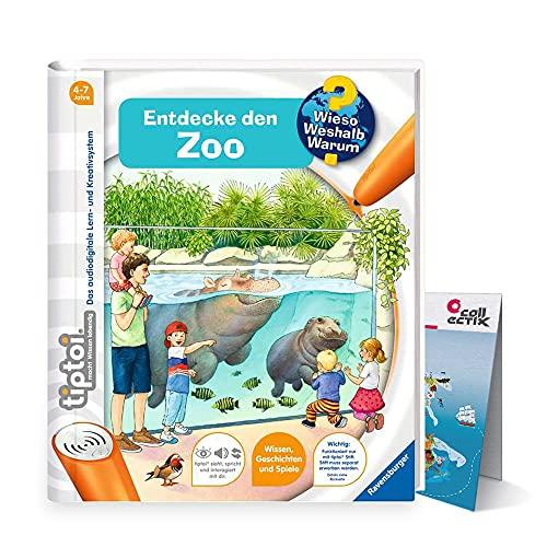 Ravensburger tiptoi ® Buch   Entdecke den Zoo + Kinder Tier-Weltkarte - Länder, Tiere, Kontinente