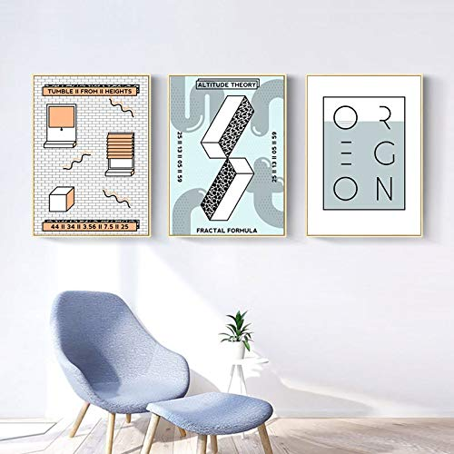 Modern Abstract Nordic Canvas Printings Paintings POP Posters and Prints Wall Pictures for Living Room Kitchen Home Decorative 30 * 40cm