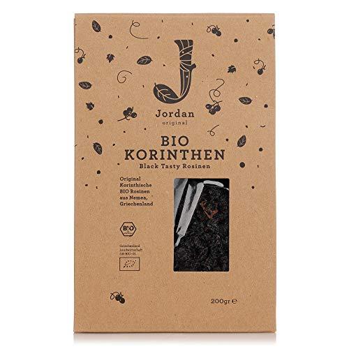 Jordan Original - Bio Korinthen Black Tasty 200 g Sultaninen aus ökologischer Herkunft Rosinen aus Griechenland