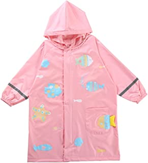 LHY- Raincoat Children's raincoat Baby raincoat Cartoon boy Girl Student raincoat Poncho Convenient (Color : Pink, Size : M)