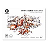 Bachmore Bleedproof Marker Paper Pad - 9'X12'- Premium White 80lb/120g, 60 Sheets Semi Translucent for Pen, Pencil or Marker, Fold Over,Copic Paper