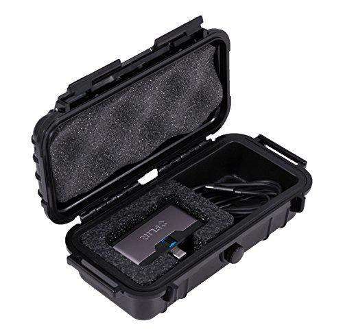 CASEMATIX Wasserdichte Thermo-Displayhülle, kompatibel mit FLIR 1 Pro iOS, USB-C oder Android IR, Kabel & winzigen Adaptern