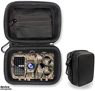 Hunting Scouting Camera Case for Campark Trail Game Camera 14MP 1080P Waterproof Hunting Scouting Cam, Mesh Accessory Pocket, Detachable Wrist Strap