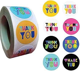 Etichette adesive di carta con cuore rosso per confezioni regalo con scritta in lingua ingleseThank you with Red Heart 1000 adesivi per rotolo bomboniere da 2,54 cm bomboniere