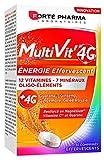 Forté Pharma Multivit 4 g Energie Multi-Vitamines + Minéraux 12 Vitamines 7 Minéraux/Oligo-Éléments pour Adultes Comprimés Effervescents 30 Unités