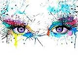 FBDBGRF Pintar por Número Ojos Multicolores para Adultos Y Niños DIY Kit De Regalo De Pintura Al Óleo con Juego De Pintura Digital para Decoración del Hogar Lienzos para Pintar
