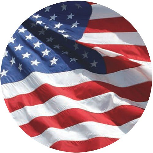 American Flag 4x6-100% Made in USA Using Tough, Long Lasting Nylon Built for Outdoor Use, Sun Protected and Featuring Embroidered Stars and Sewn Stripes Plus Superior Quadruple Stitching on Fly End