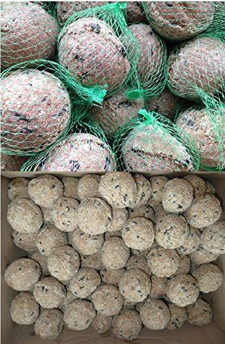 Futterbauer 100 Meisenknödel mit Netz + 100 Meisenknödel ohne Netz (ca. 18 kg)