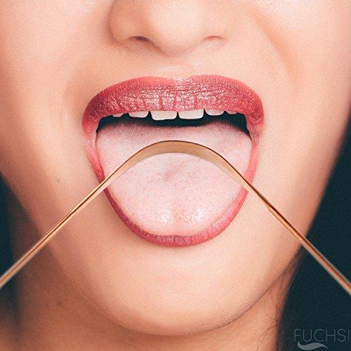 2 STÜCK FUCHSI Zungenreiniger | Natürliche Zungenreinigung gegen Mundgeruch | Äußerst Effektiv | 100% reines antibakterielles KUPFER | Deutsches Markenprodukt | Hausmittel gegen Mundgeruch / schlechten Atem | Zungenschaber Mund-reiniger Zungenspachtel tongue cleaner | Zungenbürste - 3