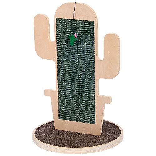 CACTUS CROCI, Tiragraffi design, Graffiatoio in legno e fibra, Dimensioni 40X60 cm