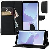 MOX Buch Klapp Tasche Schutz Hülle Wallet Flip Hülle Etui passend für Huawei Y6 2018 Dual SIM ATU-L21