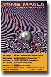 Tame Impala Poster - 12x18 Promo for Currents Tour 2015 OZ/NZ Print Limited Edition Print Frameless Art Gift