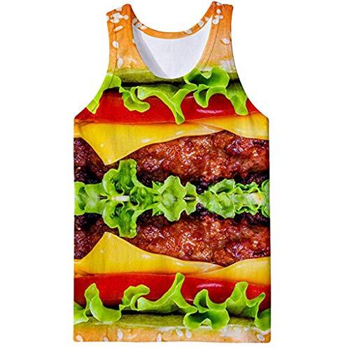 Yowablo Fitness-Achselshirts für Herren Herren Tank Top Sport T Shirt Sommer Tanktop Atmungsaktives Weste Trainingsshirt Funktionsshirt Unterhemd (3XL,Gelb)