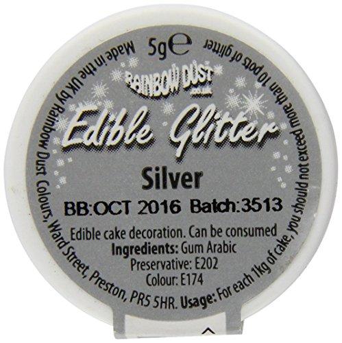 Rainbow Dust Edible Glitter - Silver - 5g