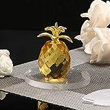 DFVVR Hausdekoration, Ananas-Kristallglasfigur, Briefbeschwerer, Ornament Feng Shui,...