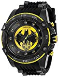 Yellow and black dial, Black silicone and stainless steel band 52mm black stainless steel case with a push/pull crown and Flame Fusion crystal 60 second, 60 minute, 24 hour subdials 100 meter water resistant