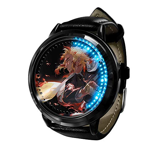 Reloj de Asesino de Demonios Watches para Hombre LED Analógico Cuarzo Reloj Impermeable Unisex Cuarzo Relojesde Pulsera Anime Cosplay Watches