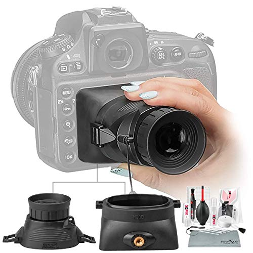 "Hoodman HoodLoupe Outdoor LCD Viewfinder for 3.0"" Screens with Xpix Cleaning Kit"