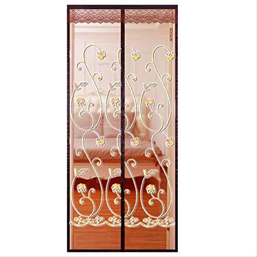 NOBRAND WHSG anti-muggen ademende deur gordijn cartoon deur gordijn anti-muggenscherm venster schattig zomer gratis ponsen slaapkamer partitie gordijn scherm deur