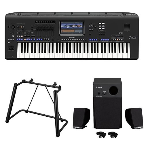 Amazon.com: Yamaha Genos 76-Key Arranger Workstation with Stand and 3-piece Speaker System: Musical Instruments