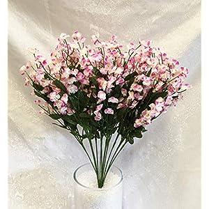 12 Baby's Breath ~ Pink & Cream~ Gypsophila Silk Wedding Flowers Centerpiece