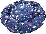 Acomoda Textil - Cama Redonda Perros. Sofá Donut para Mascotas, Cama Resistente, Cómoda y Lavable. (Diámetro 65 cm, Espacial)