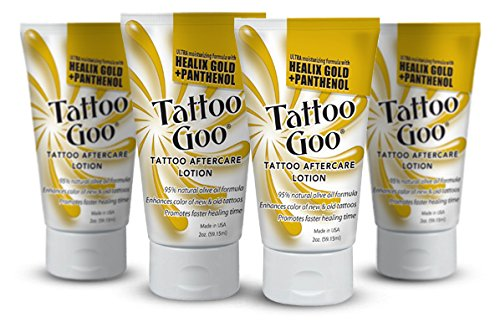 Tattoo Goo'The Lotion' with Healix Gold Formula Special - Four (4) Lotions