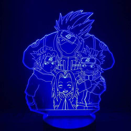 Naruto 3D Lampe Batteriebetriebenes Licht Für Kinder Schlafzimmer Nachtlicht Kakashi Naruto Sasuke Sakura Led Nachtlicht Geschenk Für Kinder Naruto Sasuke Fernbedienung