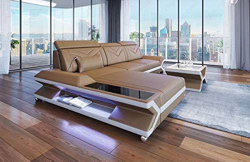 Sofa Dreams Designersofa Napoli in der L Form mit Beleuchtung