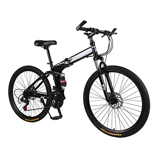 "CEALEONE Bike-to-Go Folding Fahrrad - 20\"" Rad, hinten Hydraulic Shock Aufhängung, Faltbare Pedale, Aluminium-Legierung Fahrrad-Rahmen,Schwarz"