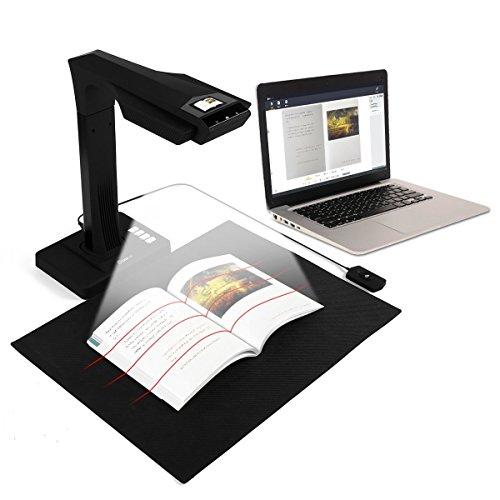 CZUR ET16 Plus Scanner per Documenti   Scanner per Libri   Document Camera Scanner Portatile ad Alta Definizione Formato Scanner A3 con 16 MP AI Tecnologia OCR 180+ Lingue Compatibile con Windows Mac