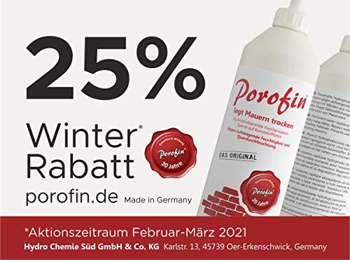 """Porofin (Karton á 12 Flaschen)\""""Das Original\"""" zum Abdichten von feuchten Wänden, Garantierte Wirkung 20 Jahre"""