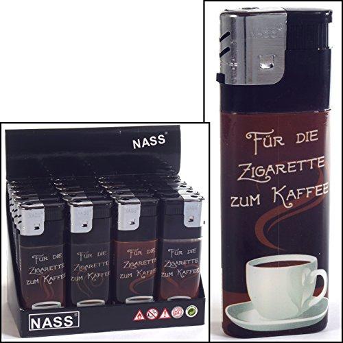 Nass 1 x Feuerzeug XXL Kaffeepause Für die Zigarette zum Kaffee - ca. 11,5 cm