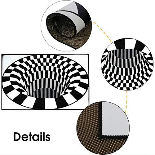 Schwarz Weiss Teppich in 3D-Optik