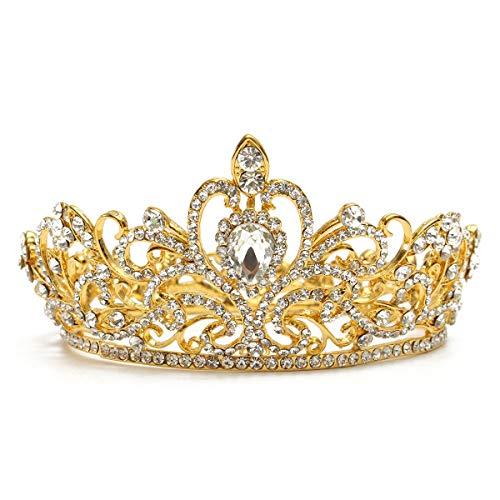 Princesa de novia de cristal austríaco tiara de la boda velo de...