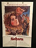 Sahara 1984 Original Vintage One Sheet Movie Poster, Brooke Shields, Lambert Wilson