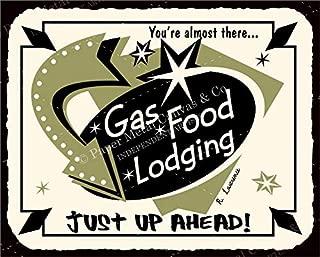 Gas Food Lodging Vintage Automotive Retro Tin Vintage Look Metal Signs