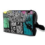 Hdadwy Bolsa de Maquillaje Bolsa de cosméticos The Umbrella Academy GTA Bolsa Multifuncional Kit de Viaje Bolsa de Almacenamiento