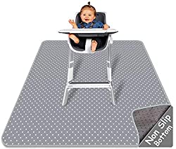 powerful Highchair Feeding Mat – Splat Mat | Large 51 x 46 inch | Washable and waterproof…
