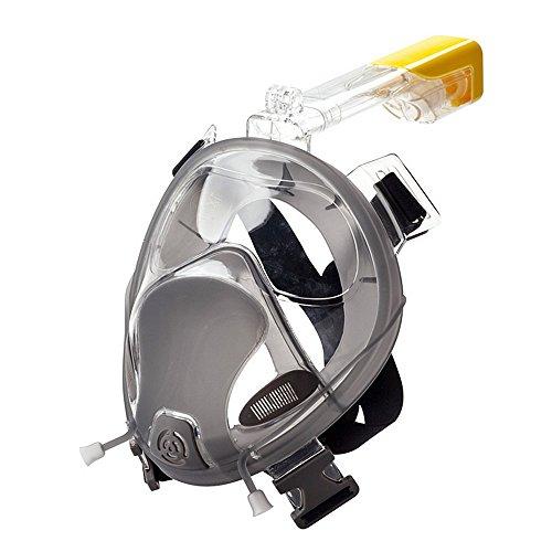 zwembril voor volwassen mannen duikmasker met camera ondersteuning snorkel set volledig gezicht ontwerp gehard glas duikbril anti-mist lens scuba-bril droge top duiken & snorkelen apparatuur zwembril