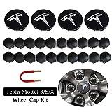 BMZX Tesla Model 3 Model S Model X - Set di 4 coprimozzo...