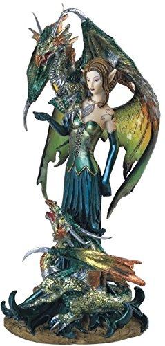 George S. Chen Las importaciones ss-g-91278colección de Hadas Pixie con dragón Fantasía Figura Decorativa Figura decoración