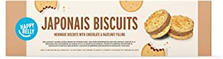 Marca Amazon - Happy Belly - Galletas Japonais (merengue con chocolate y avellana) - 8 packs de 100 g