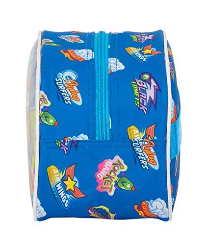 51ksZjOHFeL - Safta Neceser Escolar Infantil Mediano con Asa de Superzings Serie 5, Azul, 260x120x150mm