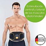 Beurer EM 37 Cinturón muscular abdominal, entrenamiento abdominal EMS, estimulación muscular para fortalecer y regenerar los músculos abdominales