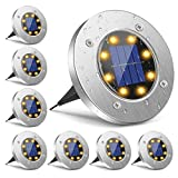 Solar Lights Outdoor, Disk Lights LED Garden Lights Solar Powered Waterproof...