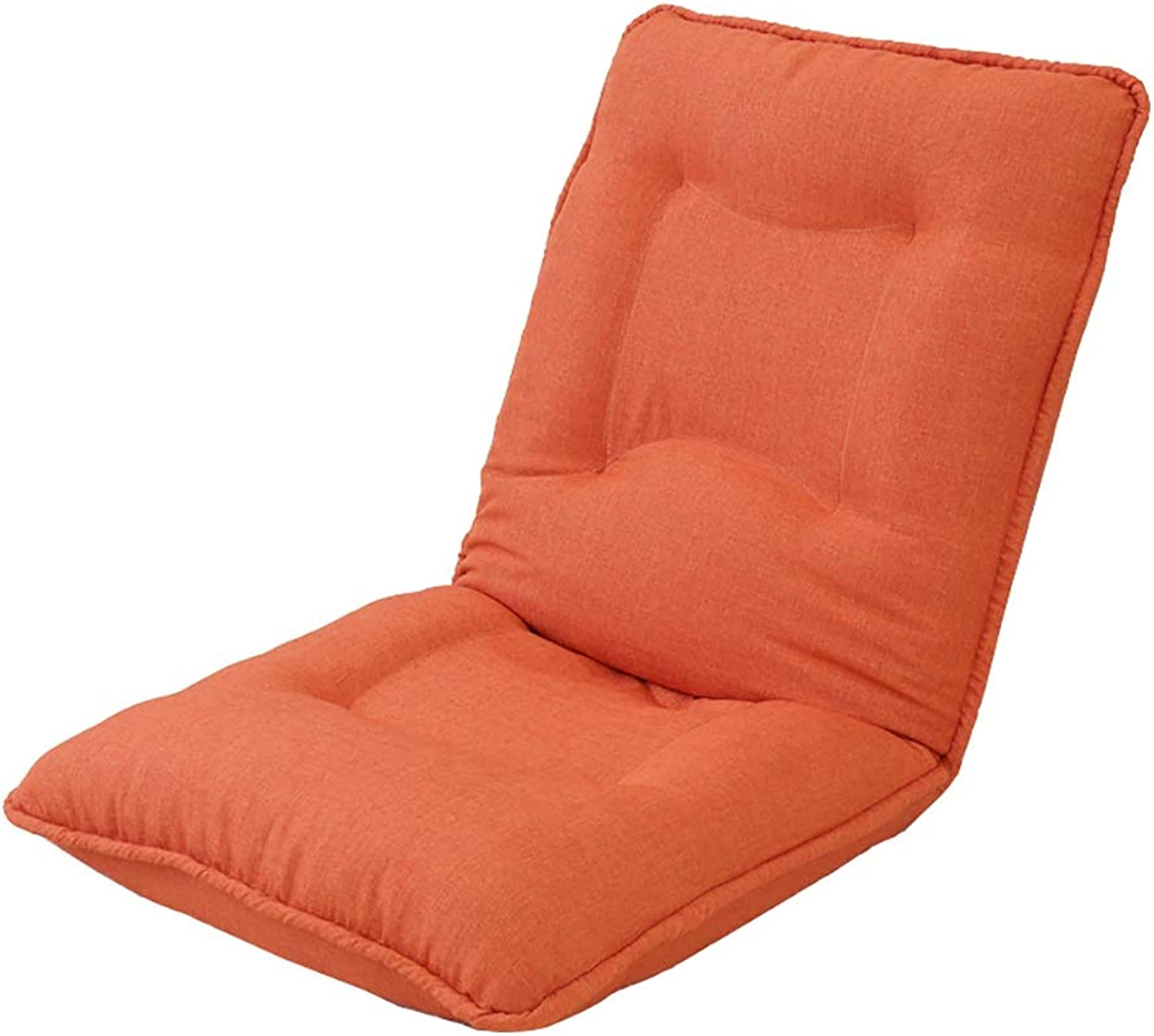 Lazy Couch, Foldable Single Small Sofa Bay Window Chair Foldable (color   orange)