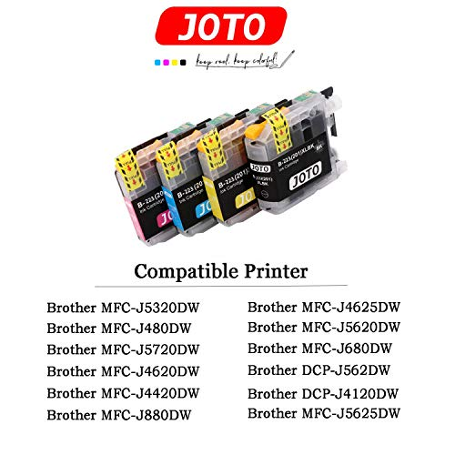 15 - JOTO Brother LC223XL Cartuchos Tinta Reemplazo para Brother LC223 Compatible con Brother MFC-J5320DW J4420DW J4620DW J4625DW J480DW J5620DW J5625DW J5720DW J680DW J880DW DCP-J4120DW DCP-J562DW