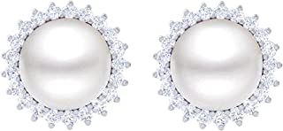 Clara 92.5 Sterling Silver Real Pearl Earrings Gift for Women and Girls